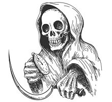 Death with sickle and pocket watch.   by devaleta