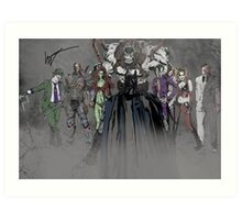 Welcome To Arkham Art Print