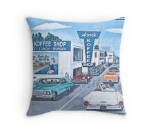 Santa Cruz Beach Boardwalk Throw Pillow