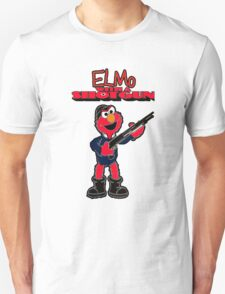 Elmo with a Shotgun Unisex T-Shirt