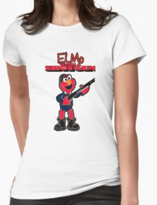 Elmo with a Shotgun Womens Fitted T-Shirt