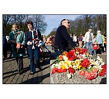 Flowers at the Monument 2, May 9 (Victory Day) 2011, Rīga, Latvia.  (2011) Photographic Print
