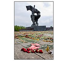 Flowers at the Monument 4, After The Rain and After May 9 (Victory Day) 2011, Rīga, Latvia. (2011) Photographic Print