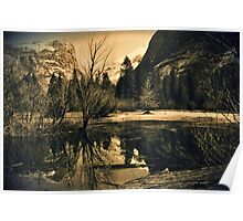 Mirror Lake 3 - Yosemite National Park - Vintage Poster