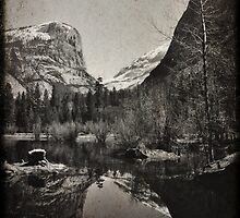 Mirror Lake 2 - Yosemite National Park - Vintage by Matthew Floyd