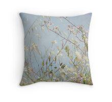 Wild Grass in Wind Throw Pillow