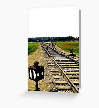 Auschwitz: Birkenau Traintracks Greeting Card