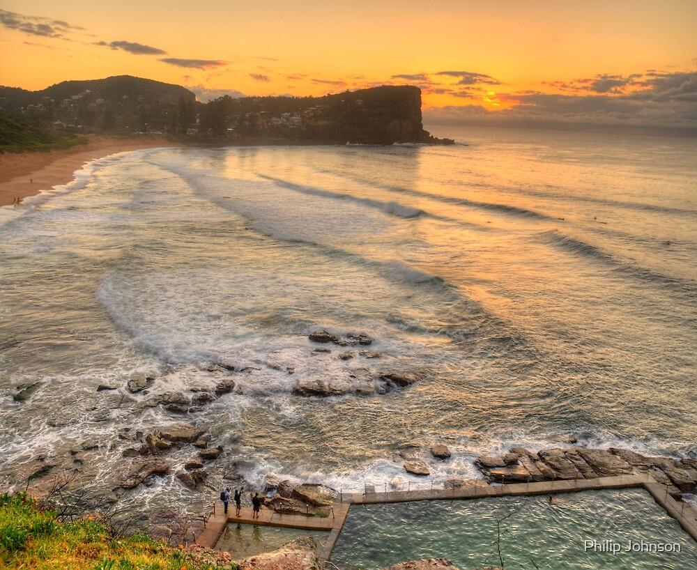 Awaiting The Dawn - Avalon Beach, Sydney Australia - The HDR Experience by Philip Johnson