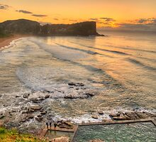 Awaiting The Dawn - Avalon Beach, Sydney Australia - The HDR Experience by Philip Johnson
