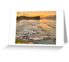 Awaiting The Dawn - Avalon Beach, Sydney Australia - The HDR Experience Greeting Card