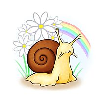 Happy Snail Photographic Print