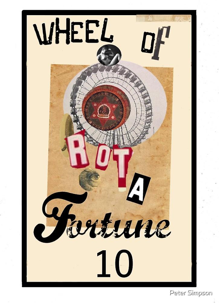 Dada Tarot- Wheel of Fortune by Peter Simpson