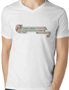 Daddy Green's Pizza! Mens V-Neck T-Shirt