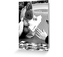 Mrs Rabbit @ Garden Games Greeting Card