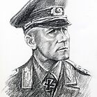 Erwin Rommel- portrait. by Francesca Romana Brogani