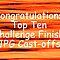 TOP TEN CHALLENGE FINISH BANNER