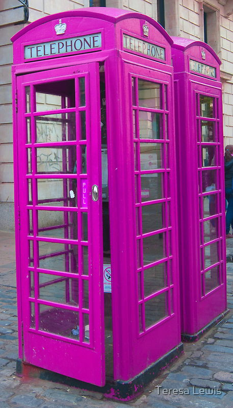 Telephone Box, Covent Garden, London by TeresaMiddleton