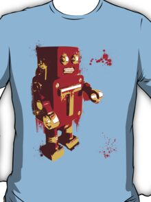 Red Tin Robot Splattery Shirt or iPhone Case T-Shirt