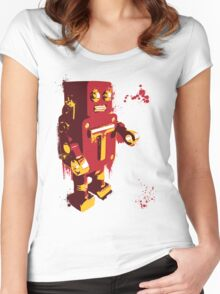 Red Tin Robot Splattery Shirt or iPhone Case Women's Fitted Scoop T-Shirt