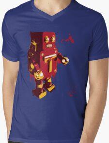 Red Tin Robot Splattery Shirt or iPhone Case Mens V-Neck T-Shirt