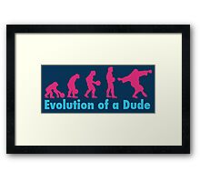 Evolution of a dude pink Framed Print