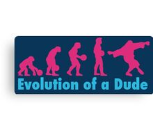 Evolution of a dude pink Canvas Print