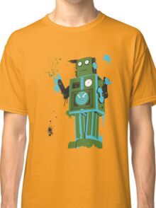 Green Tin Robot Splattery Shirt or iPhone Case Classic T-Shirt