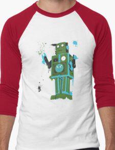 Green Tin Robot Splattery Shirt or iPhone Case Men's Baseball ¾ T-Shirt
