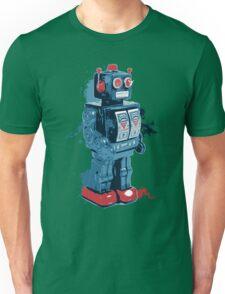 Blue Toy Robot Splattery Shirt Unisex T-Shirt