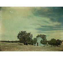 Little Blue Church Photographic Print