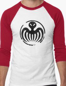SPECTRE (Black) Men's Baseball ¾ T-Shirt
