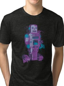 Purple Toy Robot Splattery Shirt or iPhone Case Tri-blend T-Shirt