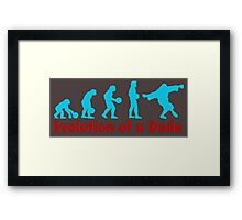 Evolution of a dude blue Framed Print