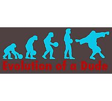 Evolution of a dude blue Photographic Print
