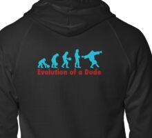 Evolution of a dude Zipped Hoodie