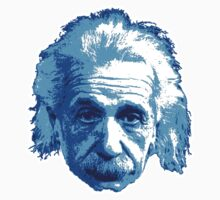 Albert Einstein - Theoretical Physicist - Blue Baby Tee