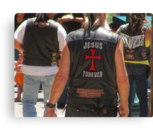"""Jesus by Harley Davidson"" Canvas Print"