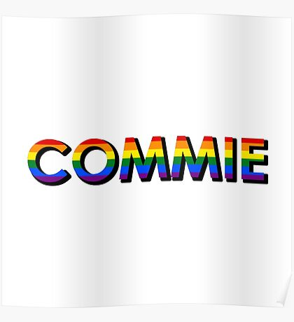 Rainbow Commie Poster