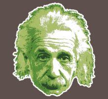Albert Einstein - Theoretical Physicist - Green One Piece - Short Sleeve