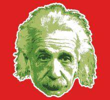 Albert Einstein - Theoretical Physicist - Green One Piece - Long Sleeve