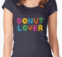 DONUT LOVER Women's Fitted Scoop T-Shirt