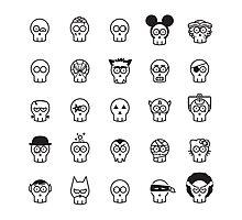 Halloween Skulls Photographic Print