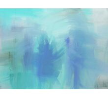 Ice Blue Figures Photographic Print