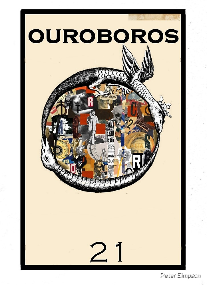 Dada Tarot- Ouroboros by Peter Simpson