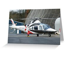 Agusta Westland G-OFTC - Castle Air Charters Greeting Card