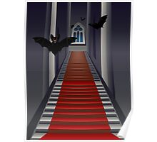 Gothic Stairs Interior Poster
