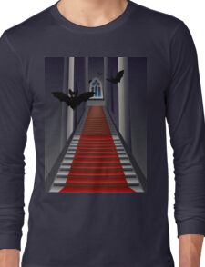 Gothic Stairs Interior Long Sleeve T-Shirt