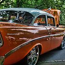 Classic Orange Car in Park by dbvirago
