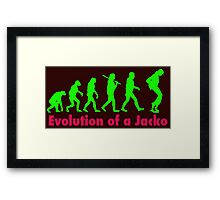 Jacko green Framed Print