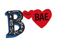 B is for BAE Photographic Print